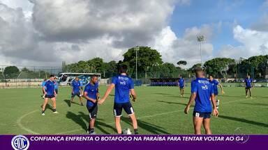 Confiança enfrenta o Botafogo-PB para tentar voltar ao G-4 do Nordestão - Uma vitória coloca o Dragão na zona de classificação.