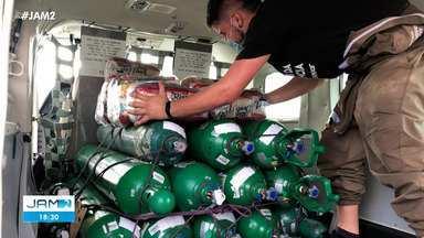 Grupo é preso por desvio de oxigênio doado em Manaus - Grupo é preso por desvio de oxigênio doado em Manaus