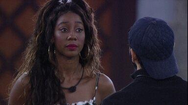 Camilla de Lucas conversa com Rodolffo sobre situação envolvendo João Luiz - A sister diz: 'Isso magoa, para a gente que ouve é cansativo'