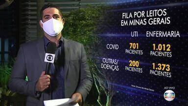 Mais de 3.200 pessoas estão à espera de vagas de internação em Minas Gerais - 901 aguardam por leitos de UTI, a maioria para tratar complicações causadas pela Covid