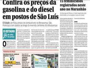 Veja os destaques do jornal O Estado do Maranhão - Acompanhe as principais notícias da publicação na manhã desta terça-feira (6) no estado.
