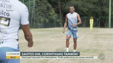 Santos enfrenta San Lorenzo nesta terça-feira pela Pré-Libertadores - Há possibilidade do Corinthians entrar em campo amanhã pelo Paulistão.
