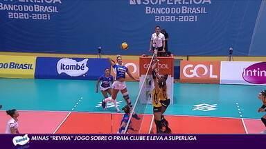 """Minas """"revira"""" jogo sobre o Praia Clube e leva a Superliga - Minas """"revira"""" jogo sobre o Praia Clube e leva a Superliga"""