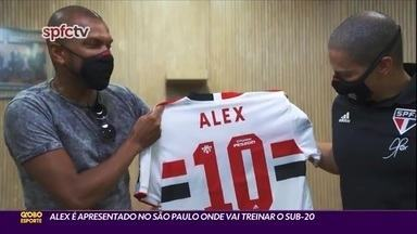 Alex é apresentado no São Paulo onde vai treinar o Sub-20 - Alex é apresentado no São Paulo onde vai treinar o Sub-20