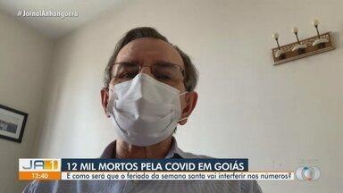 Infectologista comenta número de mortes por Covid-19 em Goiás - Estado bateu 12 mil óbitos pela doença.