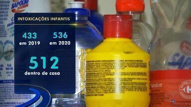 Casos de intoxicação de crianças aumentam no Hospital de Base em Rio Preto - Quem tem criança pequena em casa precisa ficar atento com produtos tóxicos e remédios. No Hospital de Base, em São José do Rio Preto (SP), os casos de intoxicação com crianças menores de 12 anos aumentaram na região.