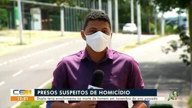 Dupla é presa suspeita de homicídio em Juazeiro do Norte - Saiba mais em g1.com.br/ce
