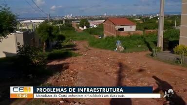 Moradores do Crato pedem consertos em ruas - Saiba mais em g1.com.br/ce