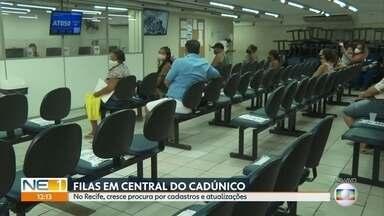 Aumenta procura por atualizações no Cadastro Único no Recife - Procedimentos também podem ser feitos por telefone.