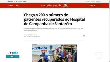 Marca de 200 pacientes recuperados no HCS é notícia em destaque no G1 Santarém - Acesse a reportagem completa no g1.com.br/tvtapajos