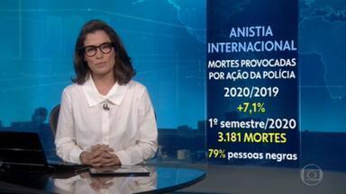Anistia Internacional denuncia agravamento de violações aos direitos humanos no Brasil - Segundo a Anistia Internacional, os homicídios provocados pela polícia aumentaram 7% mesmo durante a pandemia.