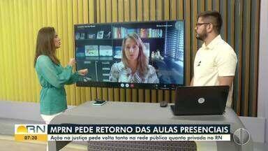 MPRN pede retorno das aulas presenciais - MPRN pede retorno das aulas presenciais