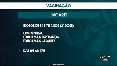 Confira vacinação em Jacareí, Guaratinguetá e Caçapava nesta sexta - Veja como será o esquema de vacinação