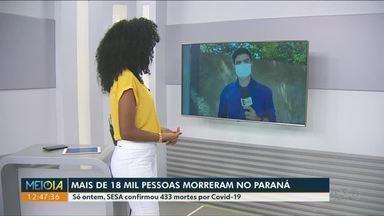 Três maiores cidades da região Noroeste somam 361 mortes - Paraná já ultrapassou 18 mil mortes.