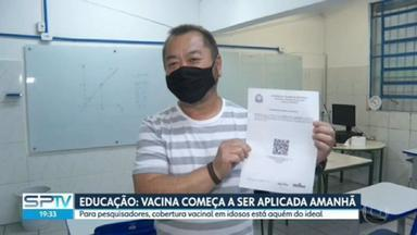 Governo antecipa vacinação de profissionais da educação para este sábado - Pesquisadores alertam que cobertura vacinal em idosos está abaixo do ideal, que é de 90%.