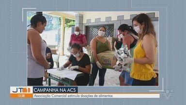Associação Comercial de Santos estimula doação de alimentos a quem precisa - Associação organizou uma campanha para arrecadar alimentos.