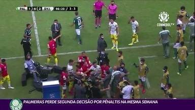 Palmeiras perde a segunda decisão por pênaltis na mesma semana - Palmeiras perde a segunda decisão por pênaltis na mesma semana