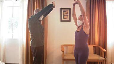 Mude 1 Hábito: a importância da atividade física na terceira idade - Janaína Castilho mostra como os exercícios fazem diferença na qualidade de vida dos idosos; você vai conhecer Rosa e Iraulina, que se apaixonaram pela prática esportiva