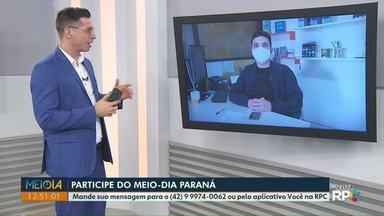 Mensagens: Telespectadores participam do Meio-Dia Paraná desta quinta-feira (15) - Participe pelo aplicativo Você na RPC ou pelo Whatsapp (42) 9-9974-0062.