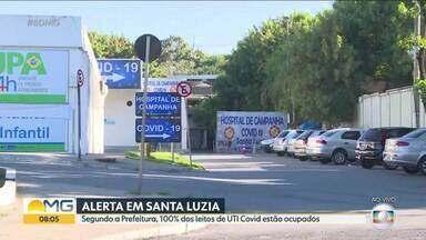 Prefeitura de Santa Luzia inaugura hoje hospital de campanha - Segundo a Prefeitura, 100% dos leitos de UTI Covid estão ocupados.