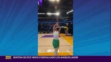 Boston Celtics vence o desfalcado Los Angeles Lakers - Boston Celtics vence o desfalcado Los Angeles Lakers