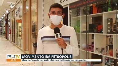 Veja o que vai funcionar em Petrópolis nos feriados de Tiradentes e São Jorge - Comércio pode abrir e há vacinação em três pontos na cidade.