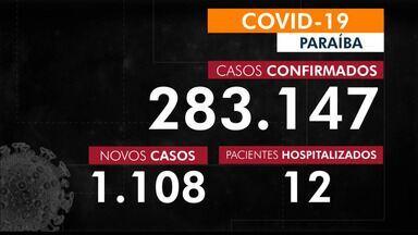 Paraíba tem 283.147 casos confirmados por coronavírus - Dados são do Boletim Epidemiológico das últimas 24h