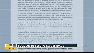 Policiais de Sergipe suspeitos de matar paraibano respondem em liberdade - Justiça concedeu liberdade aos policiais