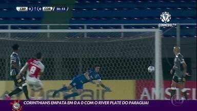 Corinthians empata em 0 a 0 com o River Plate do Paraguai - Corinthians empata em 0 a 0 com o River Plate do Paraguai