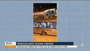 Grupo de 38 venezuelanos deixa Itabuna após período refugiados na cidade do sul da BA - Eles chegaram na cidade no dia 11 de abril e partiram na noite de domingo (25). Não há informações do destino e porque foram embora.