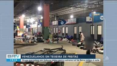 Grupo de 38 venezuelanos deixa Itabuna com destino a São Paulo; confira - Refugiados foram recebidos na cidade do sul da Bahia mas decidiram seguir viagem para outro estado brasileiro.