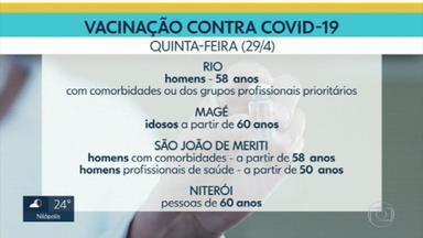 Calendário de vacinação contra Covid prossegue em alguns municípios - Faixa etária, comorbidades e grupos profissionais prioritários são critérios para o acesso às doses da vacina.
