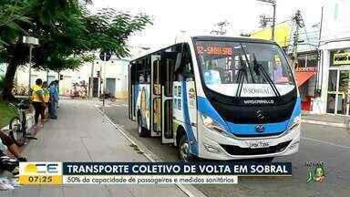Transporte coletivo volta a funcionar em Sobral com 50% da capacidade - Saiba mais em: g1.com.br/ce