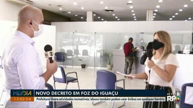 Novo decreto libera atividades recreativas em Foz do Iguaçu - Idosos também podem usar ônibus em qualquer horário.
