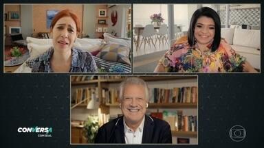 Programa de 04/05/2021 - Maria Clara Gueiros e Pequena Lô são psicólogas e amantes do humor. Ambas construíram a própria identidade ao se expressarem como humoristas e se encontraram no programa para falar sobre a arte de ver graça no cotidiano