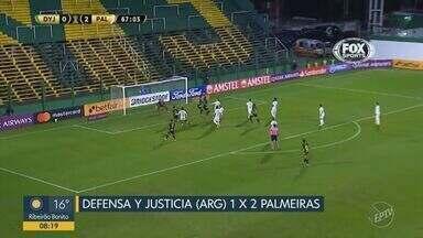Rony marca dois gols e protagoniza vitória do Palmeiras sobre o Defensa y Justicia - Resultado final foi de dois a um para o Alviverde na Libertadores.