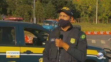 Polícia Rodoviária Federal realiza campanha para prevenção de acidentes de trânsito - Polícia Rodoviária Federal realiza campanha para prevenção de acidentes de trânsito