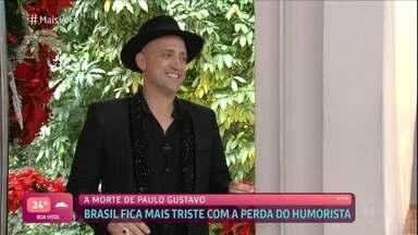 Ana Maria Braga lamenta a morte de Paulo Gustavo - Ator e humorista faleceu nesta terça-feira por complicações da Covid-19