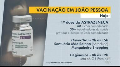 Veja como será o cronograma de vacinação em João Pessoa - Pessoas com comorbidades continuam sendo vacinadas na capital da PB