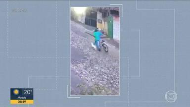 Cachorro é furtado na porta de farmácia, em Belo Horizonte - O animal da raça jack russell terrier foi levado por um homem. O criminoso fugiu de bicicleta.