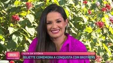 Juliette já tem mais seguidores do que a população da Austrália - Paraibana relembra as emoções da final do 'BBB21' e diz que está de alma lavada