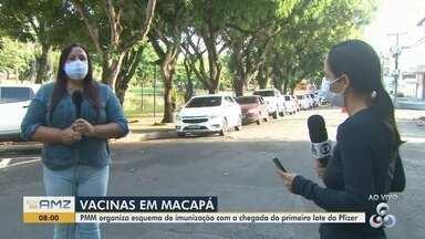 Secretaria de Saúde de Macapá organiza calendário para vacinas da Pfizer e CoronaVac - Capital seleciona público para aplicação das doses, que são reduzidas e vão priorizar grávidas, puérperas e idosos.