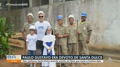 Devoto de Santa Dulce, humorista Paulo Gustavo fazia doações a OSID; confira trajetória - Ator e humorista morreu na terça-feira (040, vítima de complicações da Covid-19.