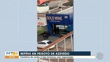 ASSALTO EM PEIXOTO - Criminoso fez reféns em loja de compra e venda de ouro