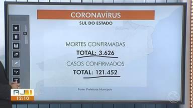RJ1 atualiza número de vacinados e mortes por Covid-19 na região - Barra do Piraí e Valença registraram novos óbitos. Mais de 19% da população já recebeu ao menos uma dose da vacina.