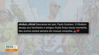 Humorista Paulo Gustavo recebe homenagens de artistas baianos após morte - Ator faleceu na terça-feira (04) vítima de complicações da Covid-19.