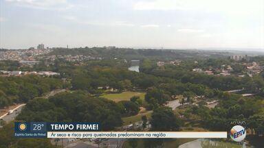 Cidades da região de Campinas e Piracicaba continuam sem previsão de chuva - Em Campinas (SP), máxima pode chegar a 29°C. Já em Piracicaba (SP), a previsão é de 30°C.