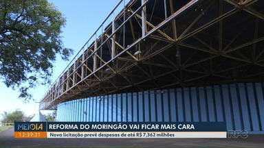 Reforma do Moringão, em Londrina, vai ficar mais cara - Nova licitação prevê despesas de até R$ 7,362 milhões. Nenhuma empresa se interessou pela obra no edital anterior, que previa custo máximo de R$ 5,626 milhões.