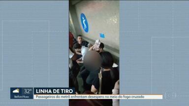 Passageiros baleados foram atendidos na estação de Triagem do metrô - A troca de tiros afetou a circulação da Linha 2 do metrô e dos ramais de Saracuruna e de Belford Roxo da Supervia — trens da Central não partiam para esses destinos.