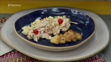 Salpicão de Frango: um dos pratos preferidos de Paulo Gustavo - Ana Maria preparou a receita ao lado do humorista no 'Mais Você'